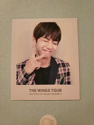 bts official wings tour 2017 v taehyung ticket album photocard
