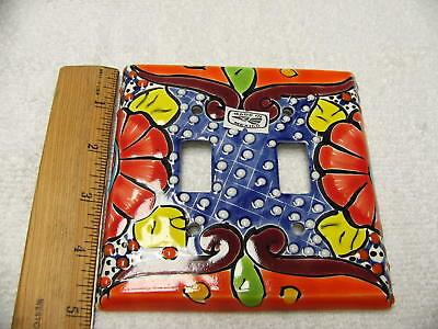 Talavera Double Toggle Switch Plate Cover Hand Painted Made In Mexico